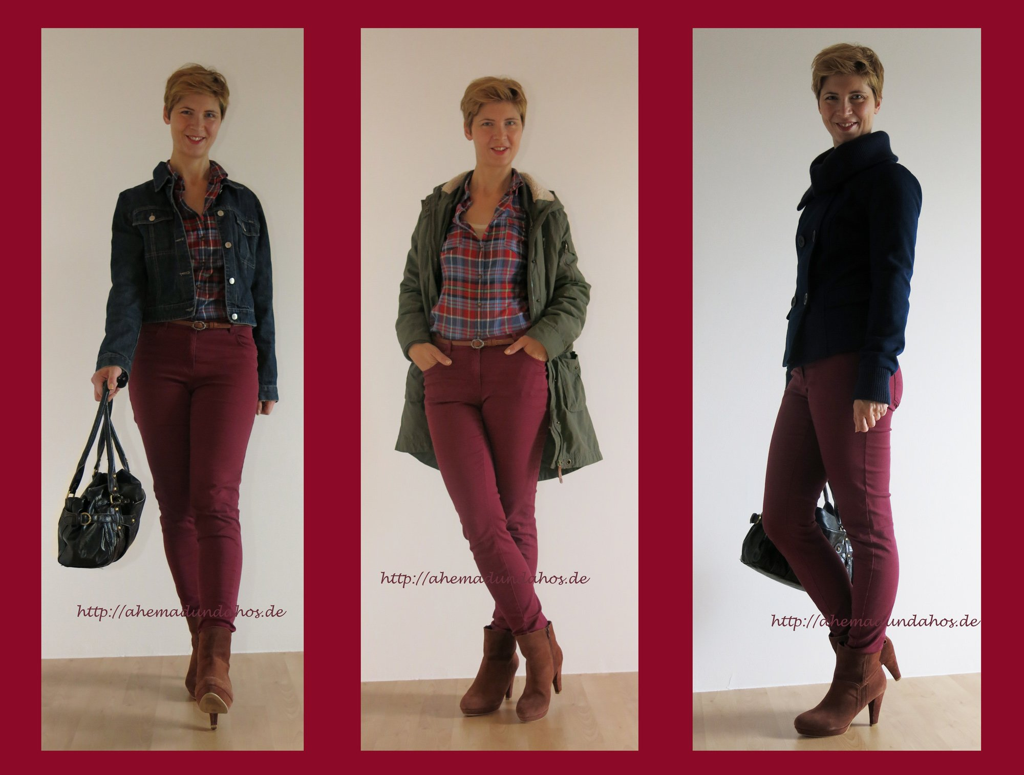 Burgundy - a bit more casual