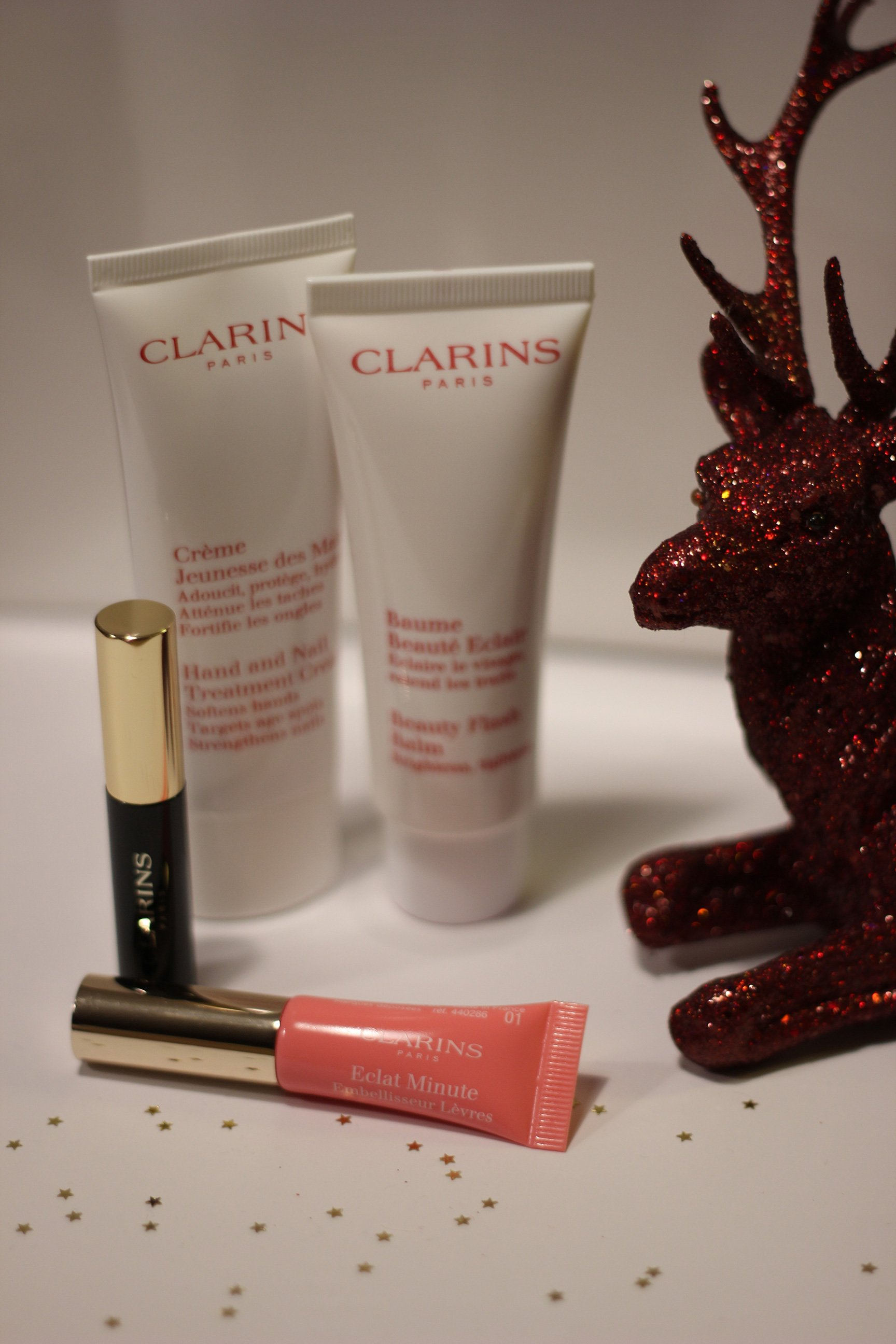IMG_9032_Clarins_BeautyFlashBalm_Wimperntusche_Lipbalm_Handcreme