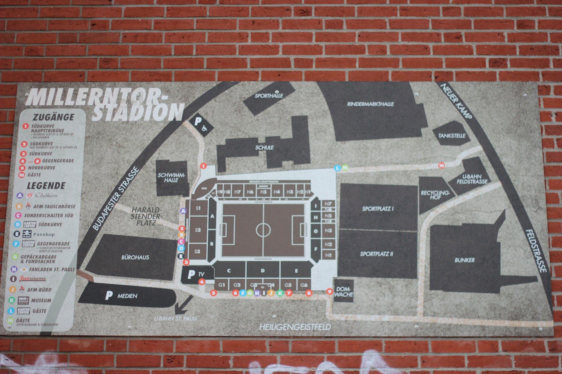 Millerntorstadion vom FC St. Pauli - Hamburg