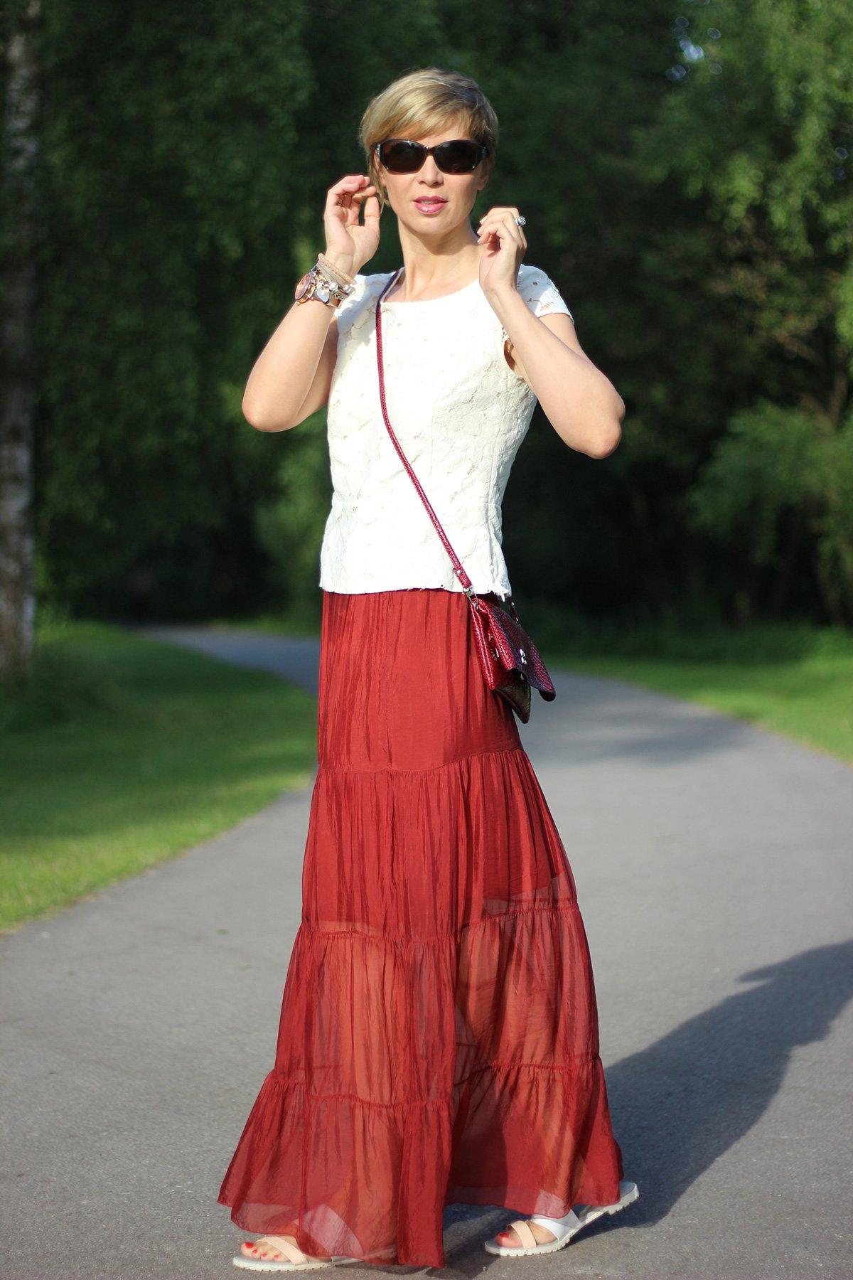 Wünsche, Träume, Maxi-Skirt, durchsichtig, Sommerlook, See, Conny Doll, ü40Blog
