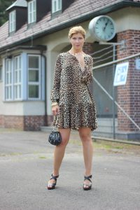 Leo-Kleid, Ganni, Conny Doll, Party, Fashionblog, Munichblogger