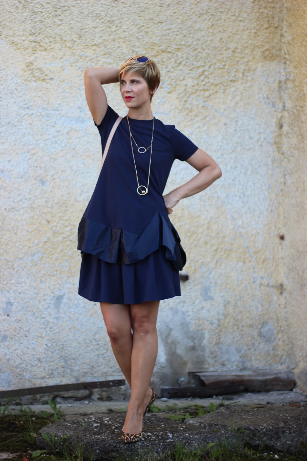 Shirtdress, Petite-Fashion, Asos, Dunkelblau, Darkblue, Rock, Conny Doll, 40plus, Fashionblogger