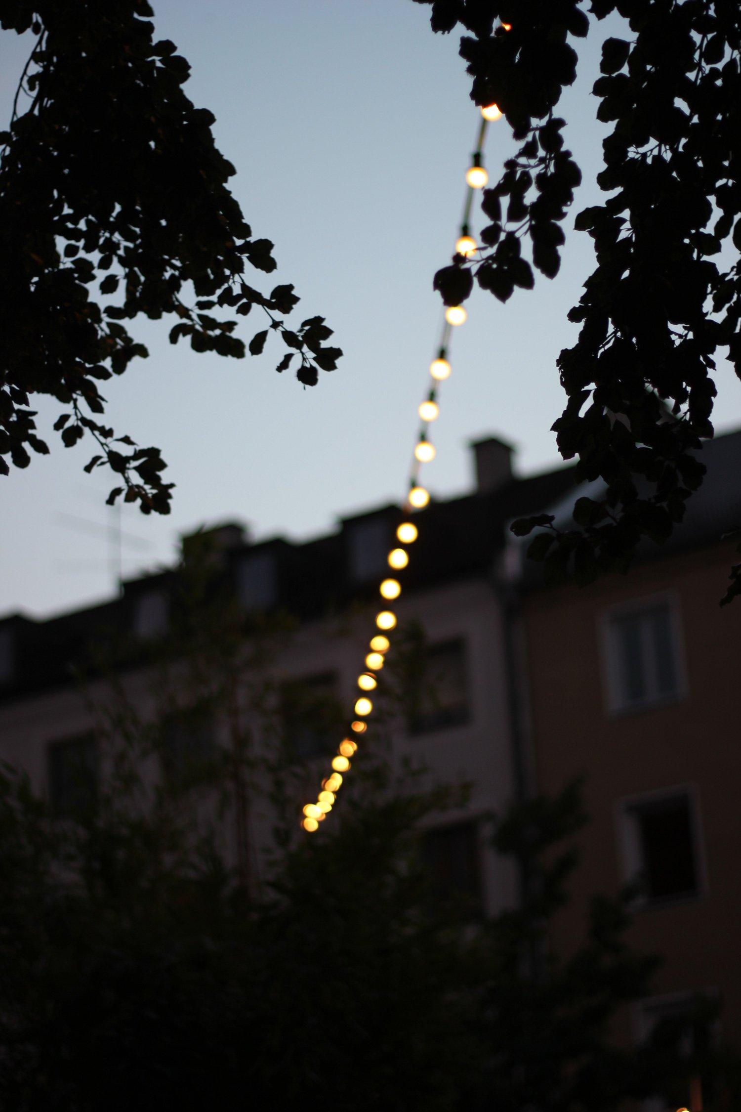 Lichterkette, Boulangerie Bleue, Cafe Reitschule, Munichblogger, Conny Doll