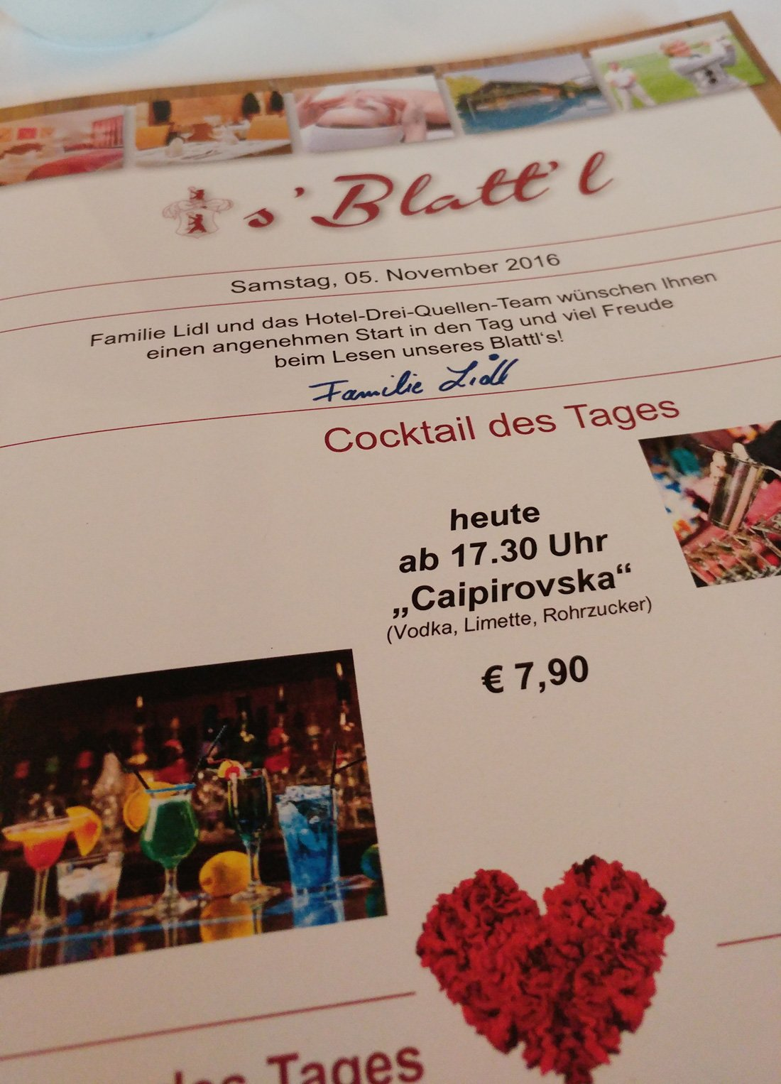 s'Blattl, Hotelzeitung, Hotel 3-Quellen-Therme, Bad Griesbach, Wellness, Beauty, Conny Doll Lifestyle