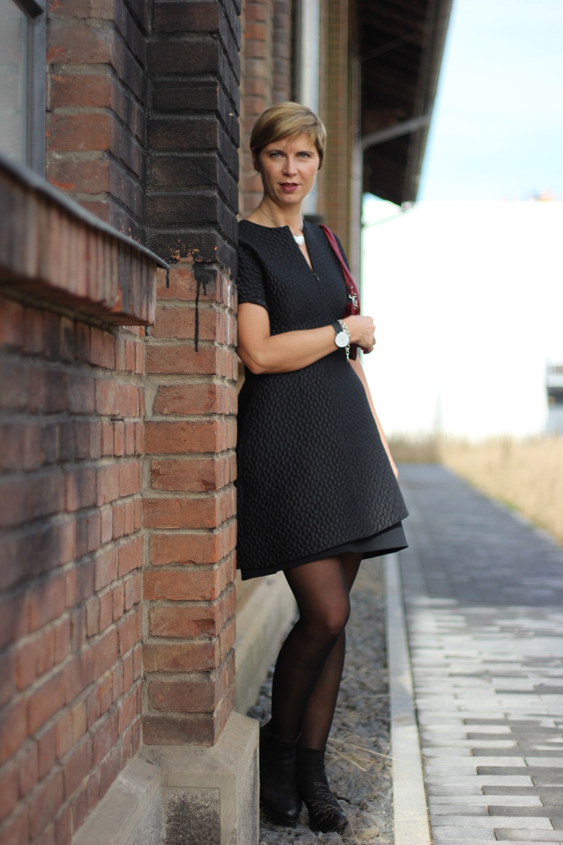 kleine Schwarze, festlich, Kleid, Little black dress, conny doll, Strumpfhose, bataillon belette, Festtagsoutfit