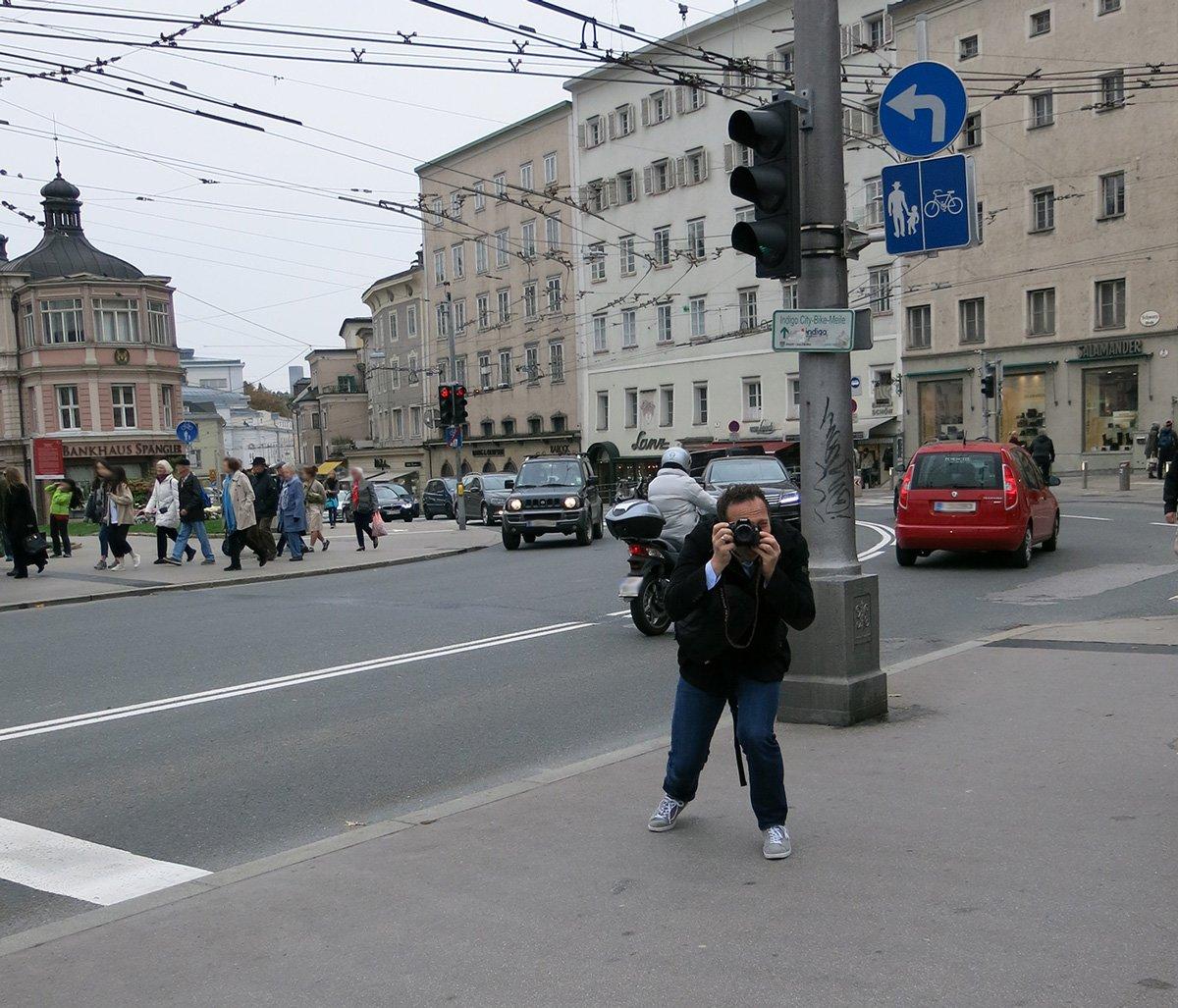 Salzburg, Sightseeing, Ausflug, Wochenende, Conny Doll, Sehenswürdigkeiten, der Fotograf beim Fotografieren