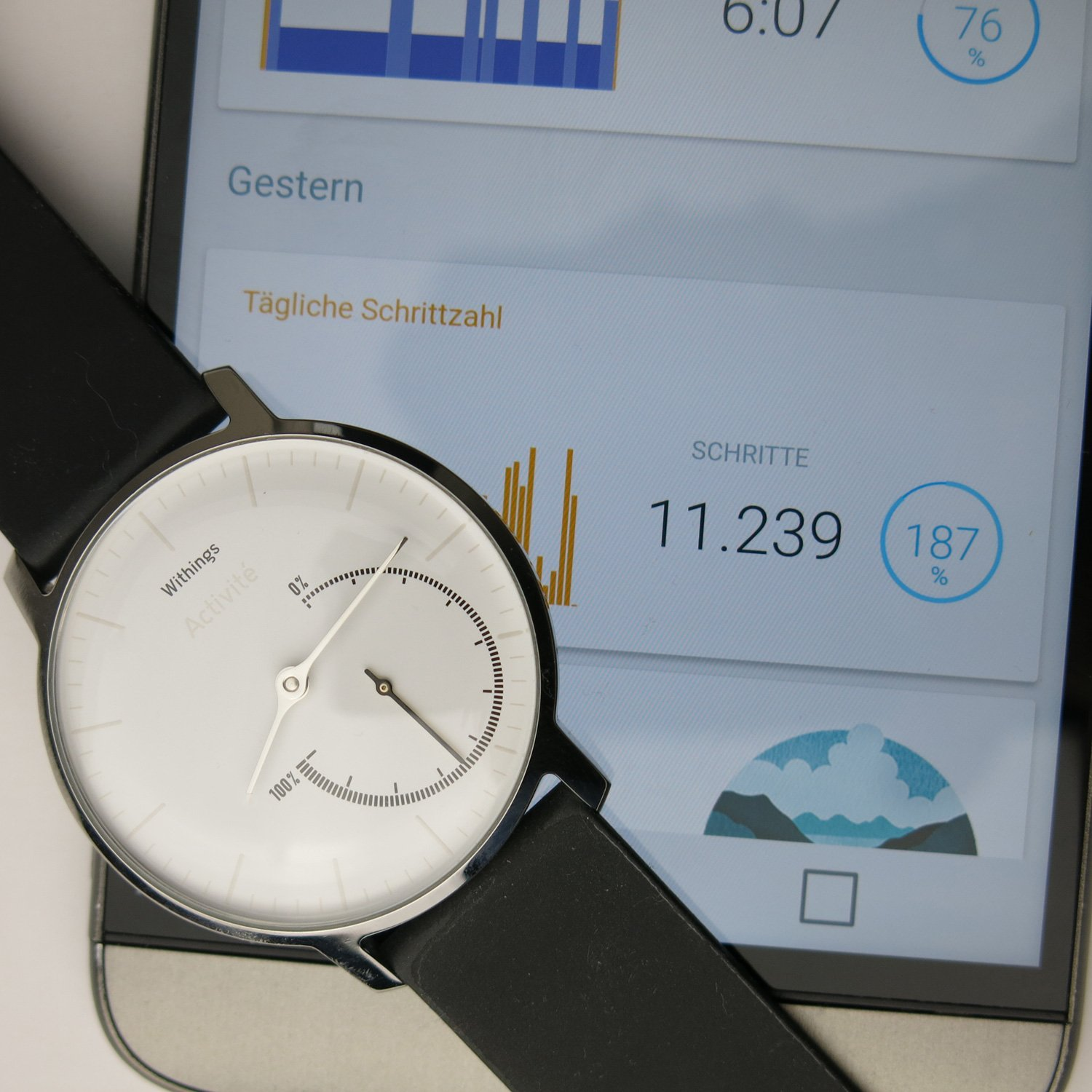 Fitness-Partner,-Acitivité-Steel,-Withings,-App,-Mobil,-Fitnesstracker