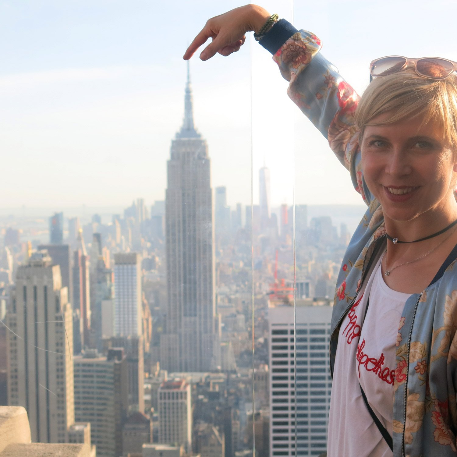 Power-Sightseeing, New York City, Conny Doll, Fashionblog, Empire State Building, vom Top of the Rocks, Rockefeller, Stadt von oben