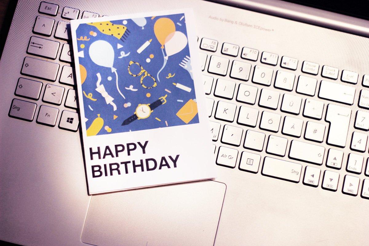 Geschenkgutschein, Zalando, Rechner, Geburtstag