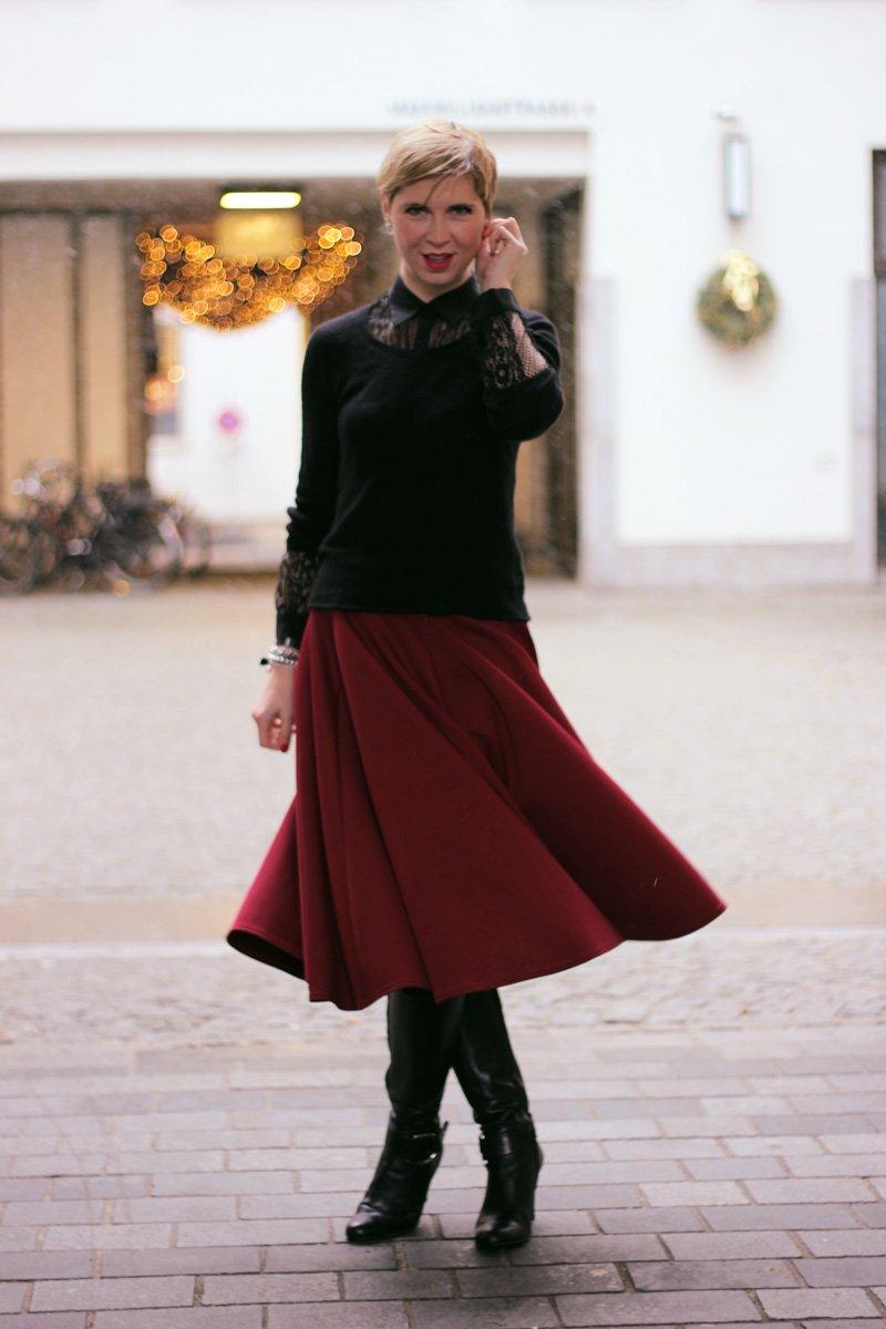 Conny Doll Lifestyle, Wie style ich einen Tellerrock im Winter?