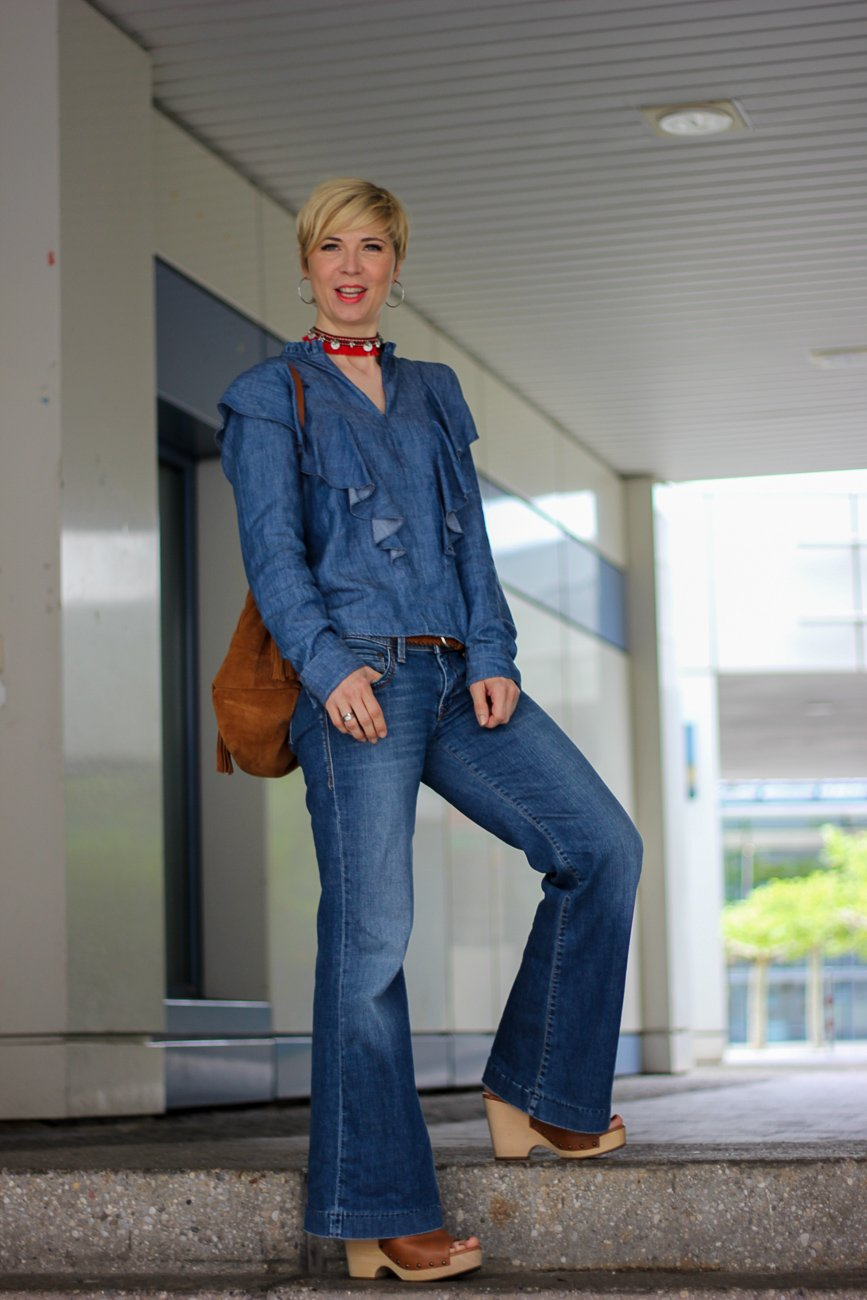 conny doll lifestyle: Ein Samstag in der Stadt... Boho meets Cowgirl, denim, allover, seventies, Fashionblogger