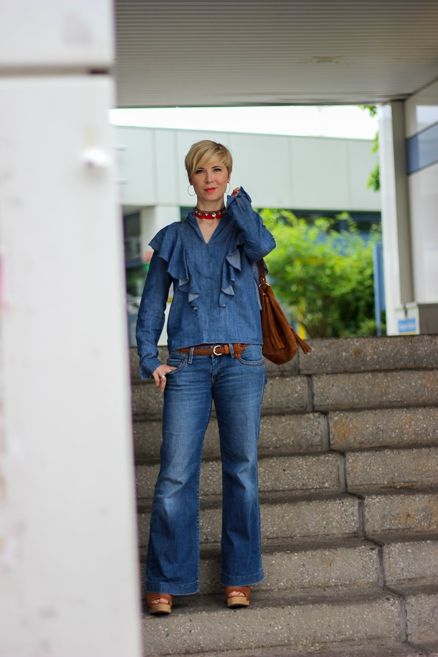conny doll lifestyle: Ein Shoppingsamstag in der Stadt... Boho meets Cowgirl, denim, allover, seventies, Fashionblogger