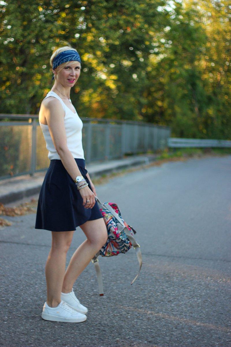 Tragt Ihr zwei Mal hintereinander dasselbe Outfit? Sommerlook in nachhaltig, Fairfashionstyling, Wickelrock, Unterhemdenstyling