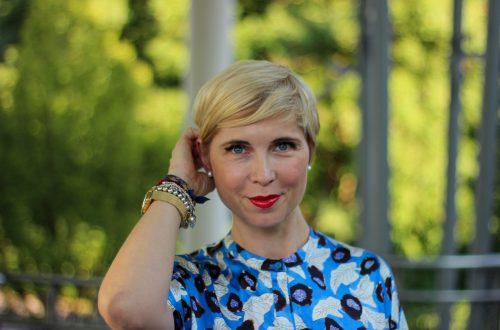 conny doll lifestyle: Sommerkleid mit Muster, Seidenkleid von Christian Wijnants