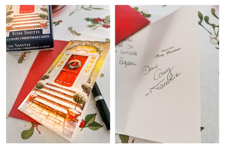 conny doll lifestyle: Weihnachten - Vorfreude, britische Köstlichkeiten, Vorfreude, Weihnachtskarten, Festive Doors,