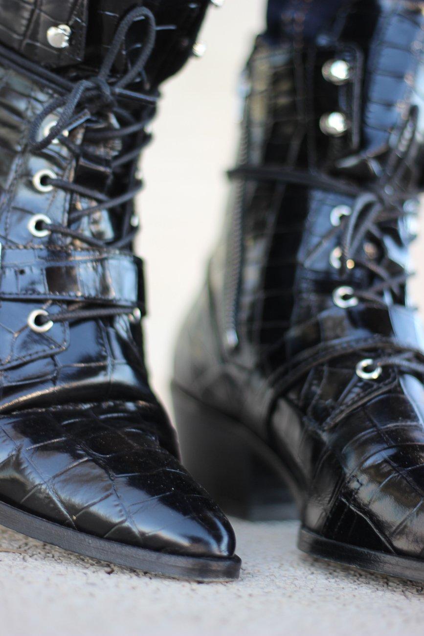 conny doll lifestyle: neulich beim Schuster, Schuhe, Lederschuhe, Allsaints, crocooptik