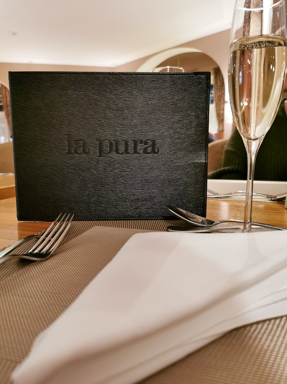 conny doll lifestyle: la pura, Menuekarte, Abendessen, viergängemenue, gourmed küche