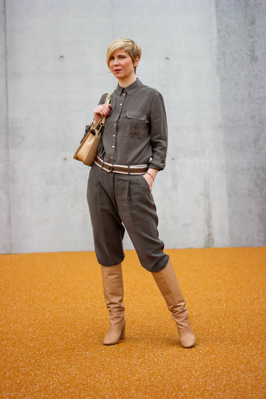 conny doll lifestyle: Utilitystyle mit TONI Fashion, Stiefel, Frühlingslook