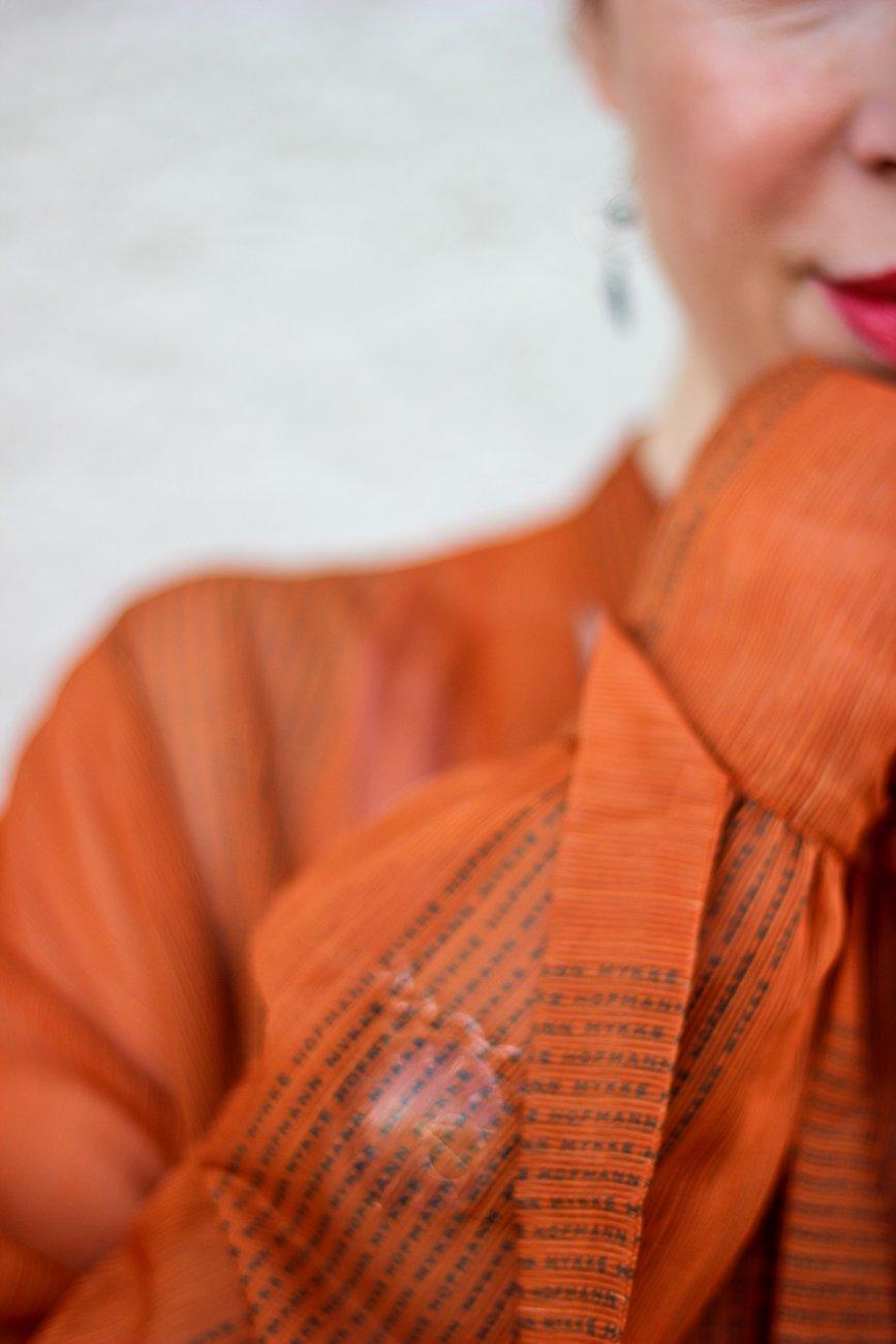 conny doll lifestyle: Fashionblog, transparente Bluse, Schluppenbluse,