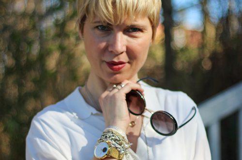conny doll lifestyle: Übergangsoutfit mit Cargohose, Cardigan, Frühlingslook, Bluse, Münchner Bloggerin, Fashionblogger