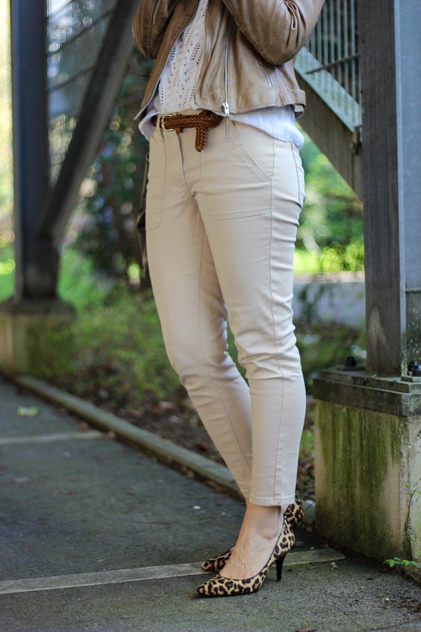 conny doll lifestyle: Hose mit aufgesetzten Taschen, Frühlingslook, WENZ, Leopumps
