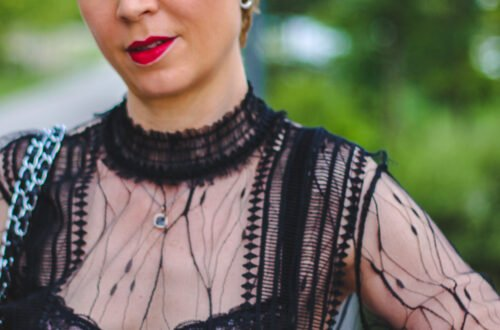conny doll lifestyle: Abendlook mit schwarzer Spitze - Transparenz und schöne Wäsche
