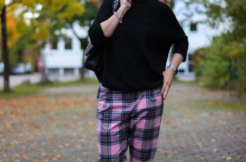 conny doll lifestyle: karierte Hose im Herbst, mein Musthave, lässig und edgy kombiniert.