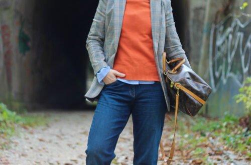 conny doll lifestyle: Handyfreie Zeit und Orange - perfekt für den Herbst, Pullover, casual Businessstyling