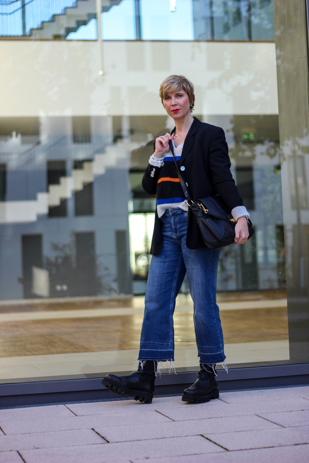 conny doll lifestyle: Styling mit Boots, Herbstoutfit, Chunky-Boots