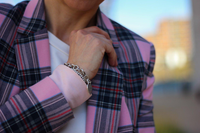 conny doll lifestyle: karo blazer details, herbststyling