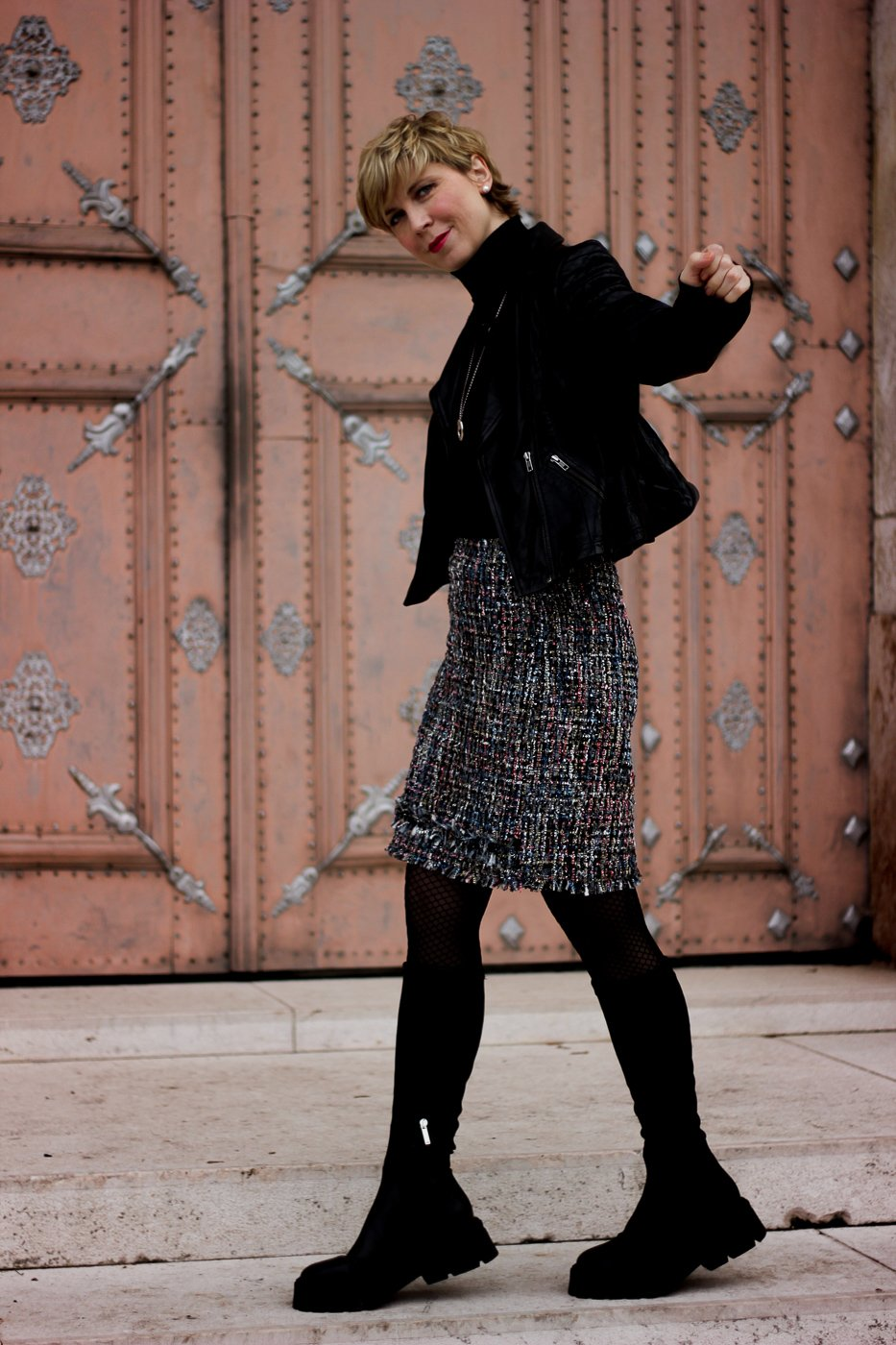 Conny doll lifestyle: Herbst/Winter-Styling, Boots, Lederjacke, Stilmix