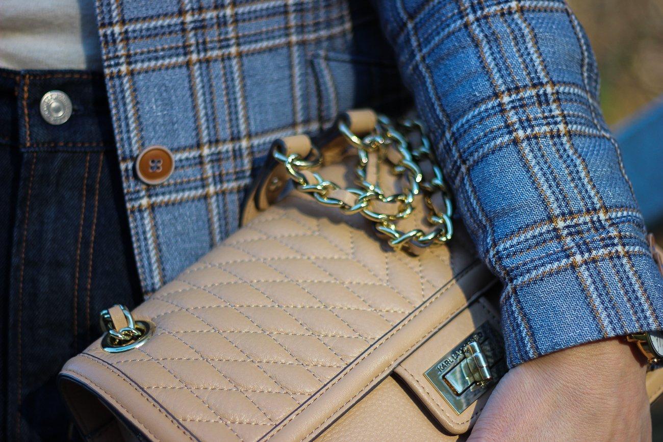 conny doll lifestyle: Karl Lagerfeld Tasche, Karoblazer, Details