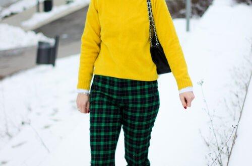 conny doll lifestyle: Farbenfrohe Mode leicht kombiniert - grünes Karo mit sonnengelb