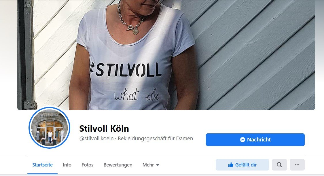 conny doll lifestyle: Screenshot, Stilvoll Köln, Facebookseite
