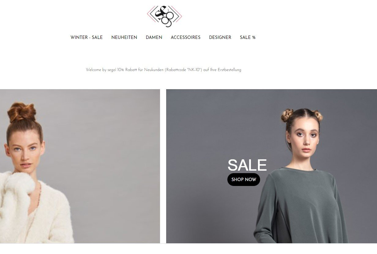 conny doll lifestyle: screenshot SEGO-Store Dachau, Online-Shop