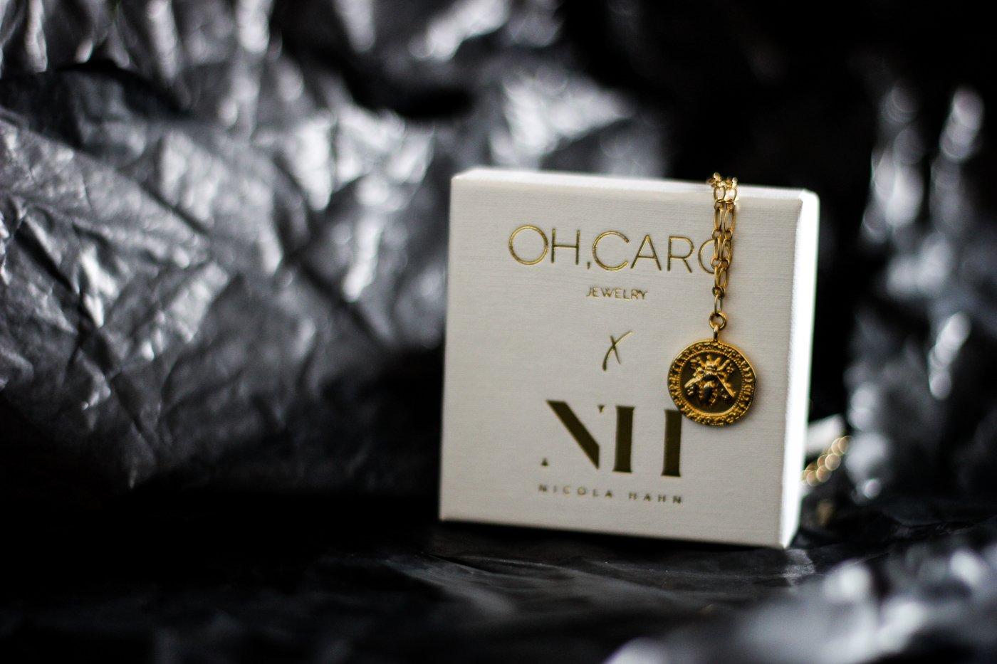 conny doll lifestyle: Zusammenarbeit Nicola Hahn und OHCaro Jewelry, Halskette, gold, Münze