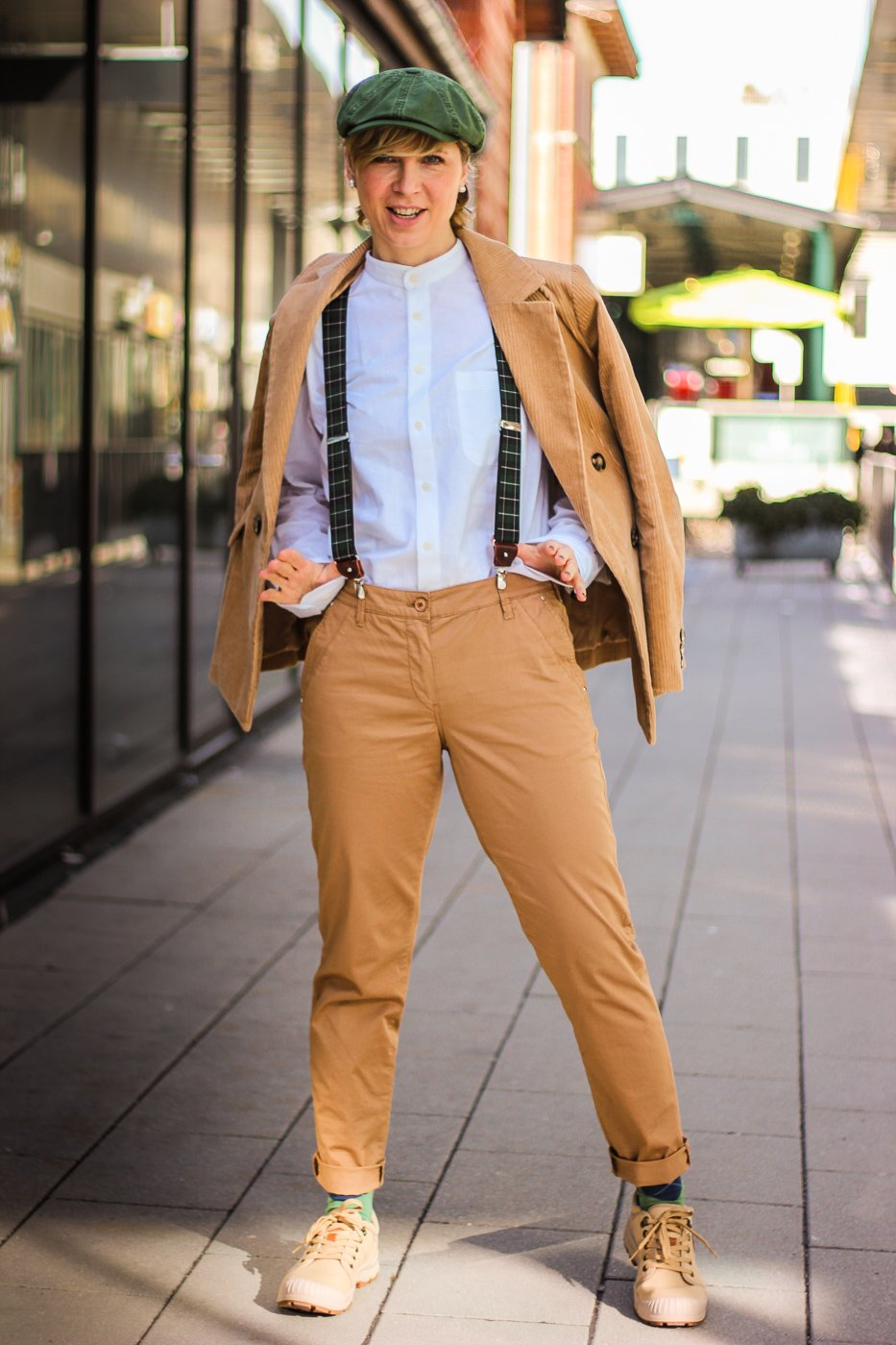 conny doll lifestyle: Dandy Style mit Cordblazer, Outfitidee
