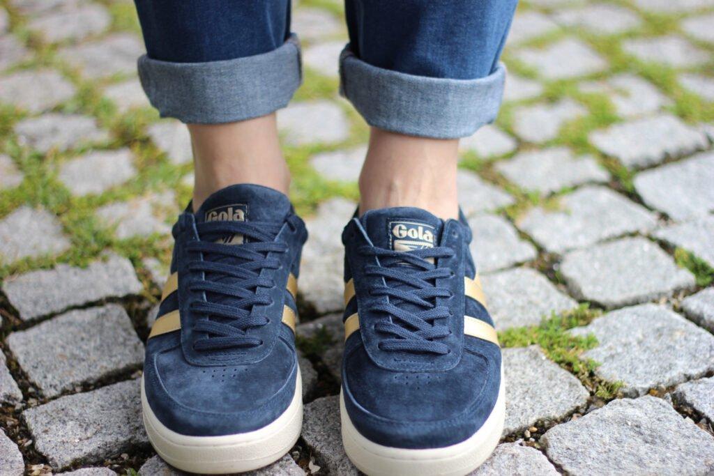 conny doll lifestyle & The BRITISH Shop: Details, Gola, Sneaker, Grand Slam, blau-gold