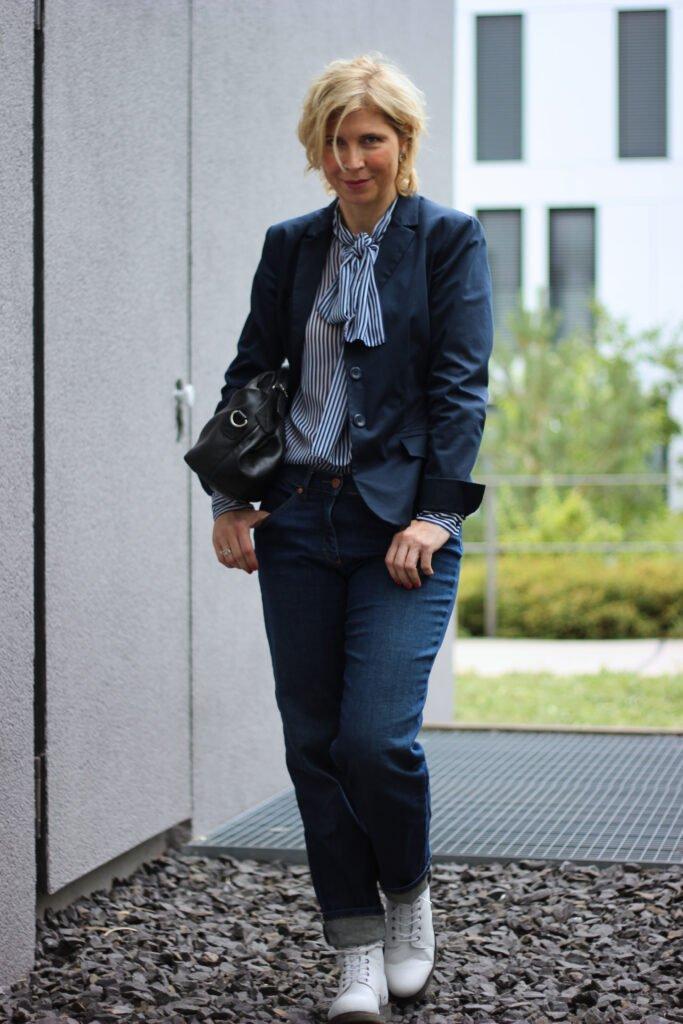 conny doll lifestyle: Denimlook fürs Büro und back to school
