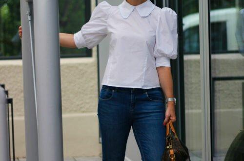 conny doll lifestyle: Puffärmel - eine Bluse wie maßgeschneidert und der beste Beweis für #fashionisfun