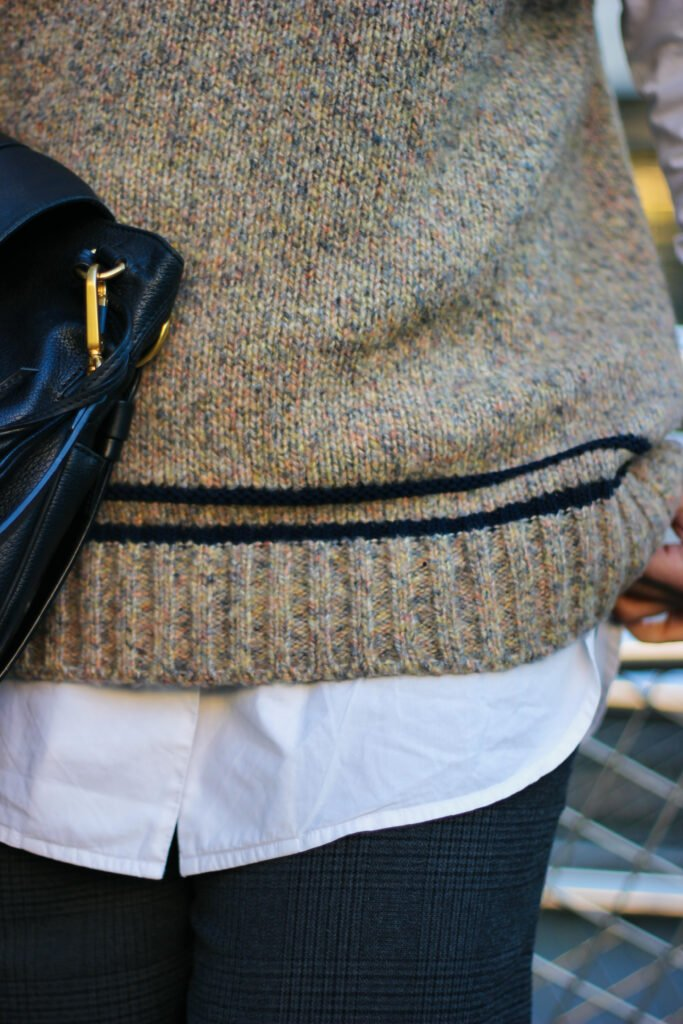 conny doll lifestyle: Longbluse, Pullunder, Details, Tasche